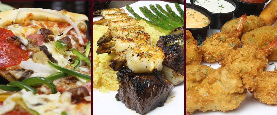 Derry Restaurant Pizza Family Pasta Seafood Calzones Salads Subs Lunch Dinner Dessert Catering Nh